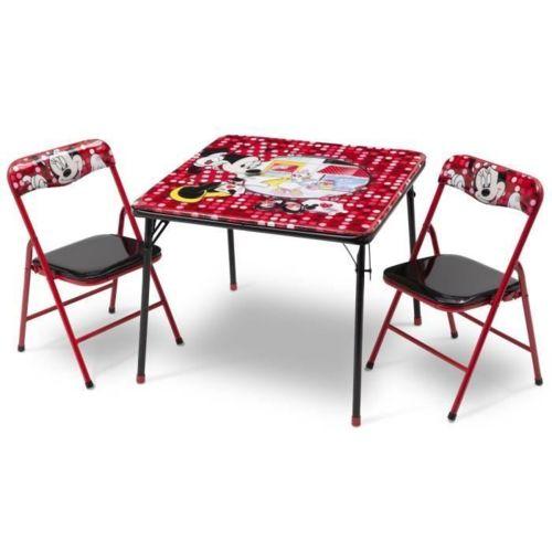 Delta Children Minnie table enfant et 2 chaises pliantes pas cher