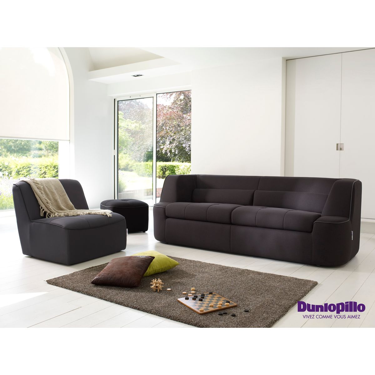 : Sofa XL Disponible en 3 coloris DUNLOPILLO Canapé droit
