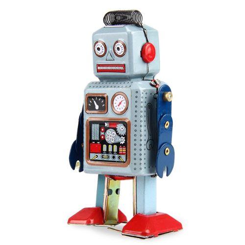 Wind Up Collection Métal Walking Robot Retro Tin Toy Cadeau Enfants