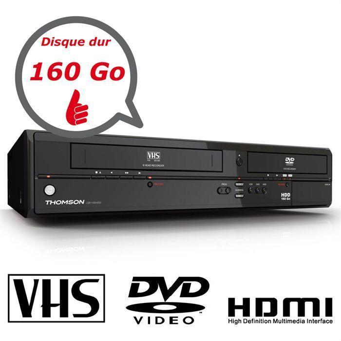 THOMSON CB1160 160 Go combi vhs dvd, avis et prix pas cher