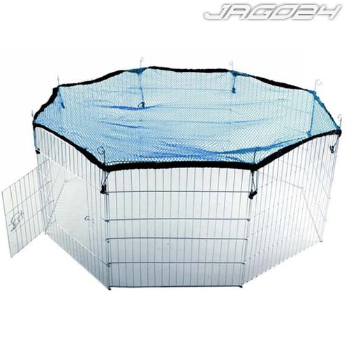Enclos hexagonal cage lapins rongeurs domestiques métal filet parc 8