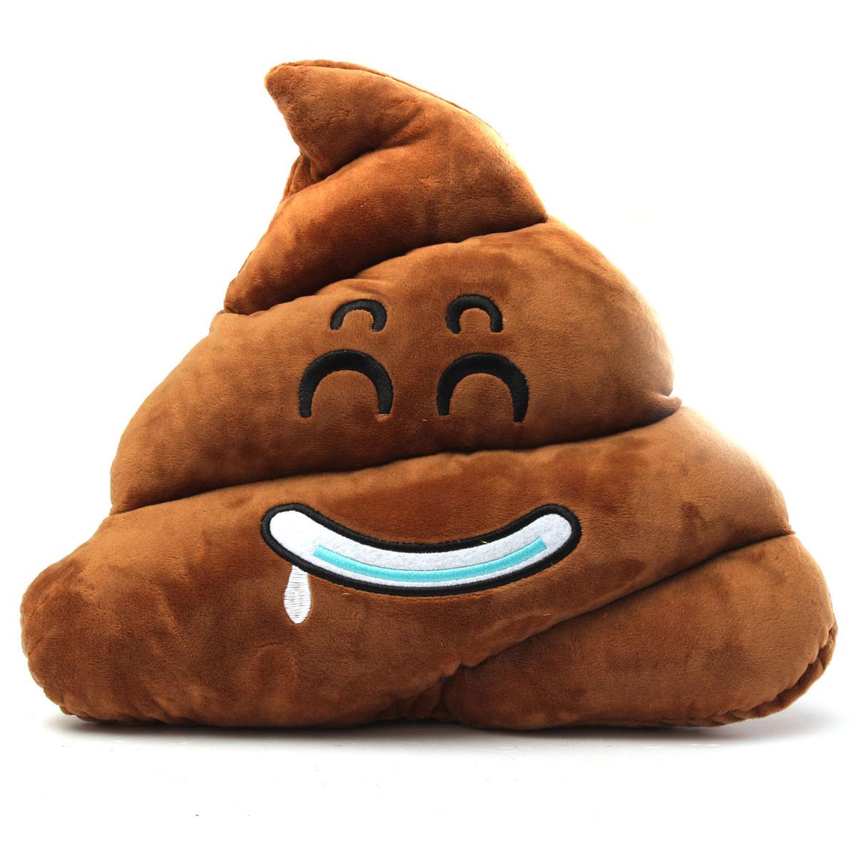 Coussin Oreiller Doux Poo Emoji Emoticones Smiley Peluche Poupee Jouet