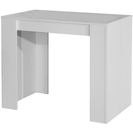Table console extensible SOBRIO Blanc pas cher à prix