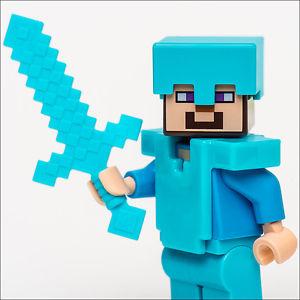 LEGO Minecraft Steve en Diamant Armure de 21117 Le Ender Dragon tout