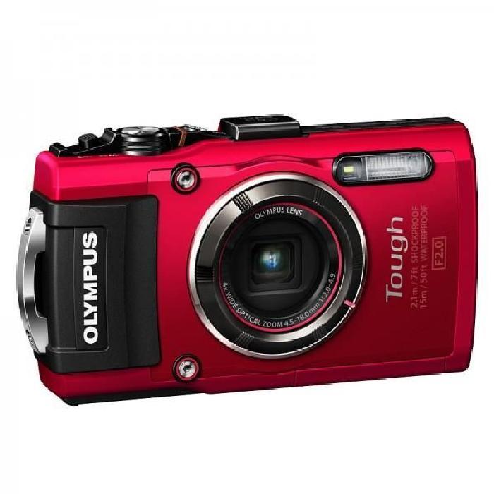 OLYMPUS Compact étanche TG4 Rouge Achat / Vente appareil photo