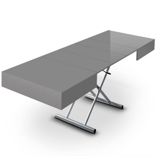 TABLE BASSE RELEVABLE EXTENSIBLE ELLA GRIS Achat / Vente table basse