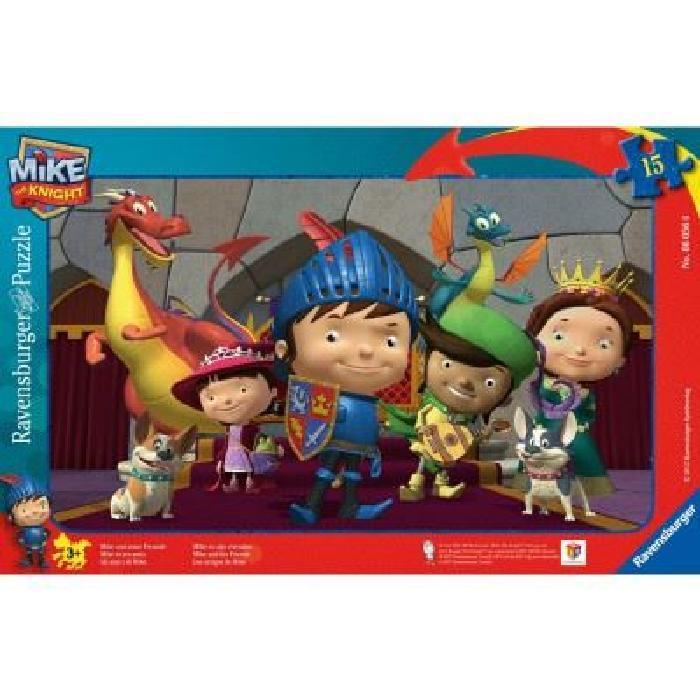 Puzzle cadre 15 pièces : Mike le chevalier et ses amis Puzzle cadre