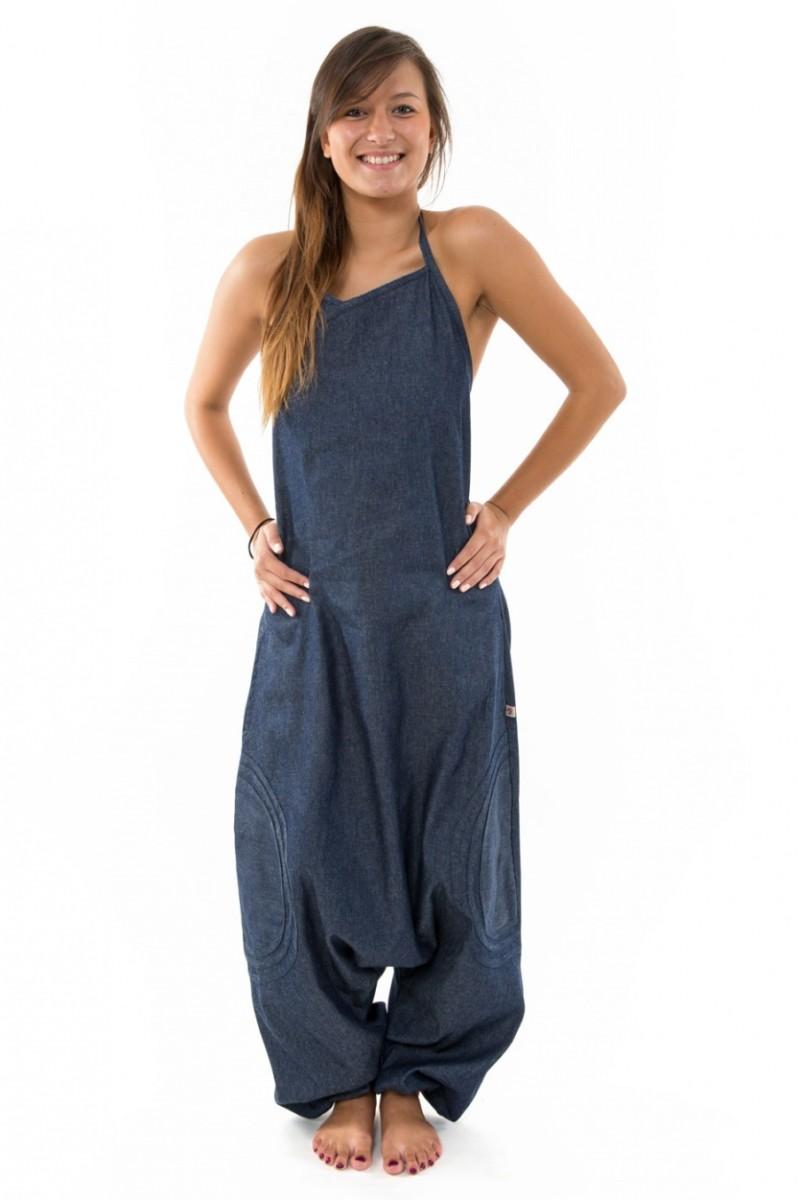sur Combinaison sarwel femme blue jean brut urban street Neuf