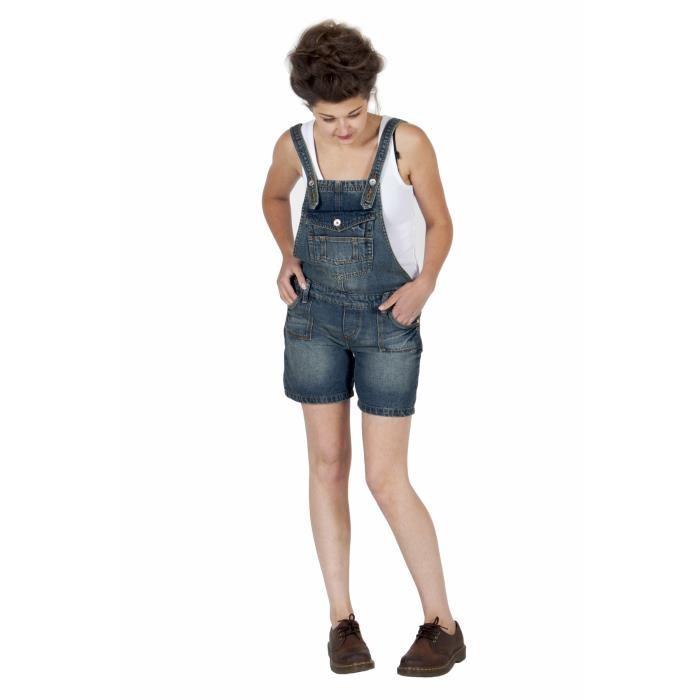 Femme Salopette Short Look A Bleu Achat / Vente salopette