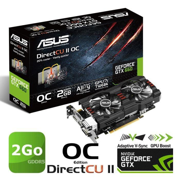 Asus GTX660 2Go GDDR5 OC PH Achat / Vente carte graphique interne