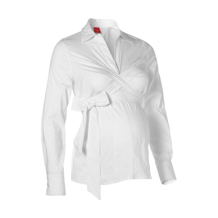 Blanc Achat / Vente chemisier blouse ESPRIT Maternité Chemisier