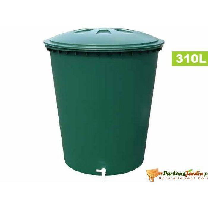 Cuve cylindrique de récupération d'eau pluie 310L Achat / Vente