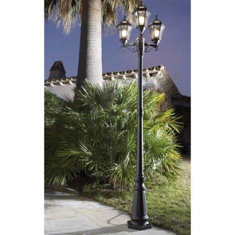 Lampadaire extérieur Jaipur E27 rouille INSPIRE |