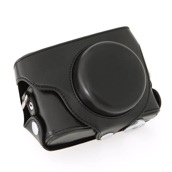 appareil de protection en Cuir PU pour Panasonic Lumix DMC LX7 (Noir