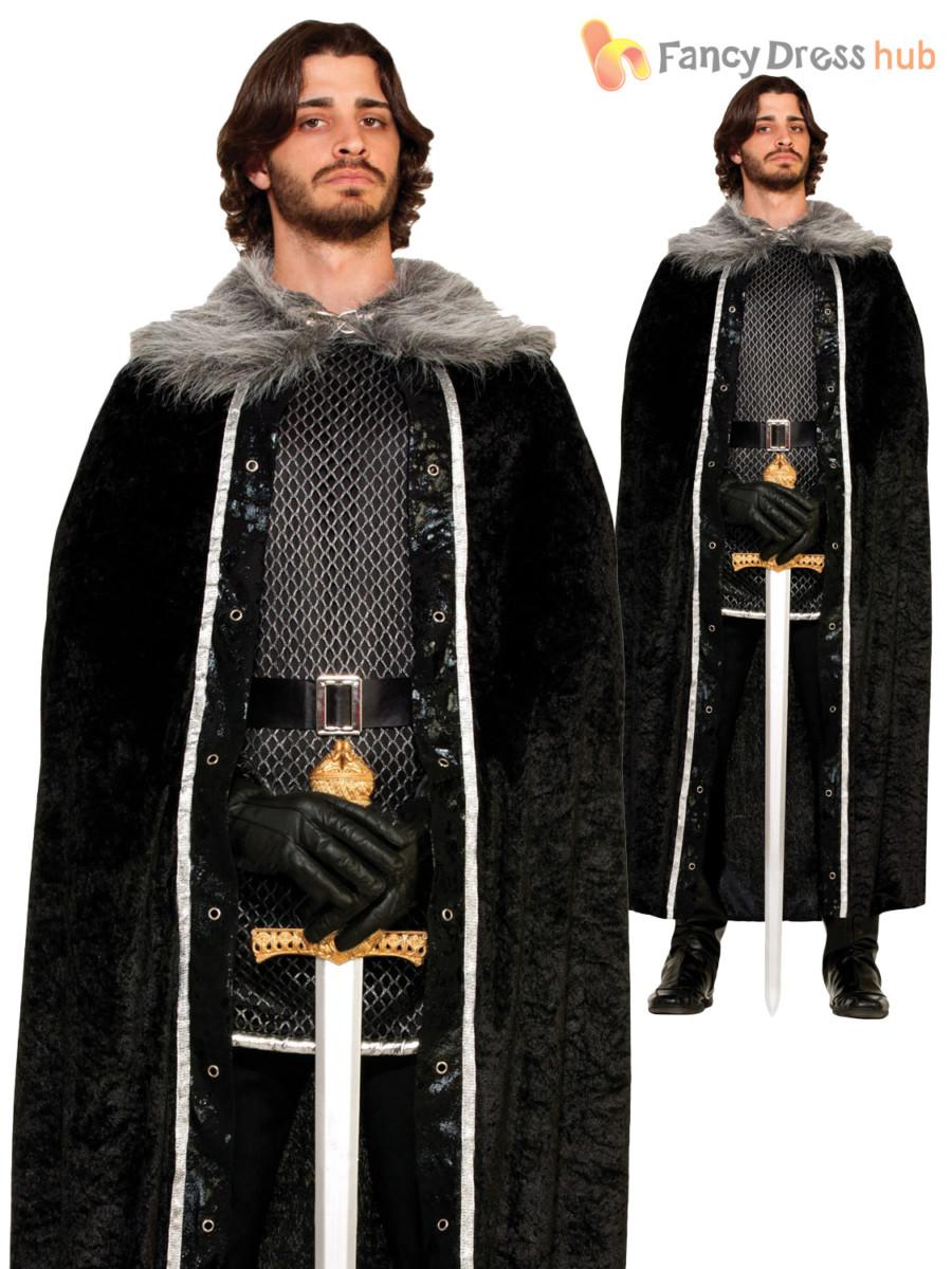 Jeu de HOMME MANTEAU CAPE FOURRURE trones jon snow Medieval Costume