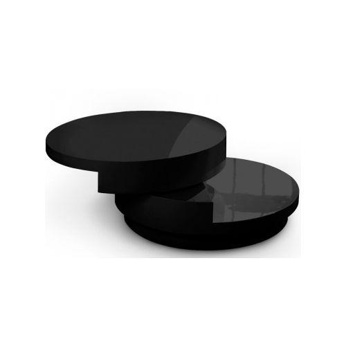 Dvl Deco Table basse ronde laqué blanc Slide pas cher Achat