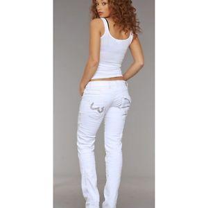 Jean Femme Japrag coupe droite blanc Taille 42