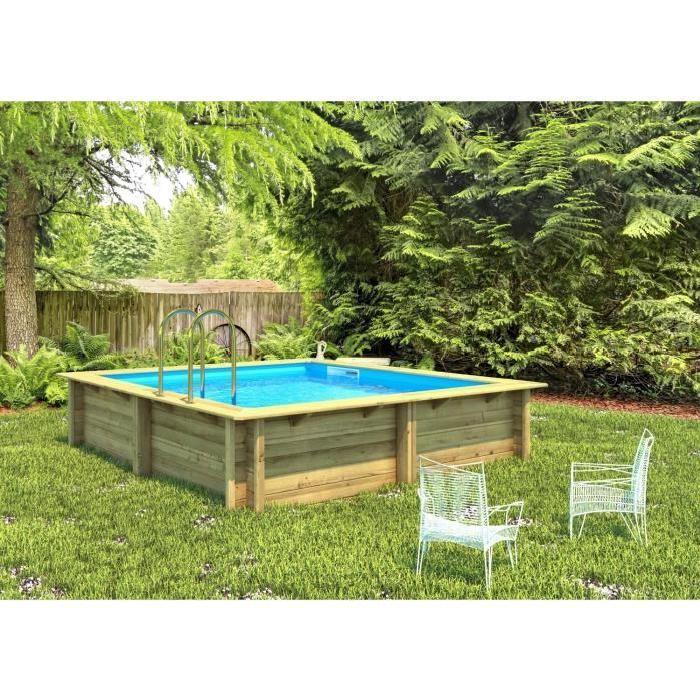 Piscine bois carrée 3×3 m Hauteur 1,20 m Achat / Vente kit piscine