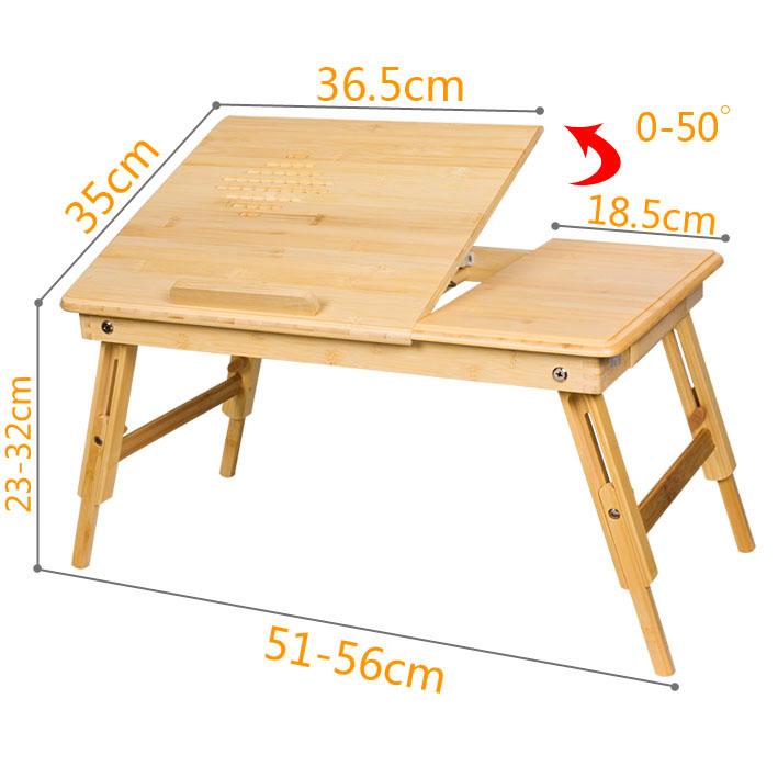 SoBuy® Table de lit pliable pour PC portable/notebook, iPad,en bambou