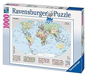 Ravensburger Puzzle Carte Politique du Monde 1000 Pièces