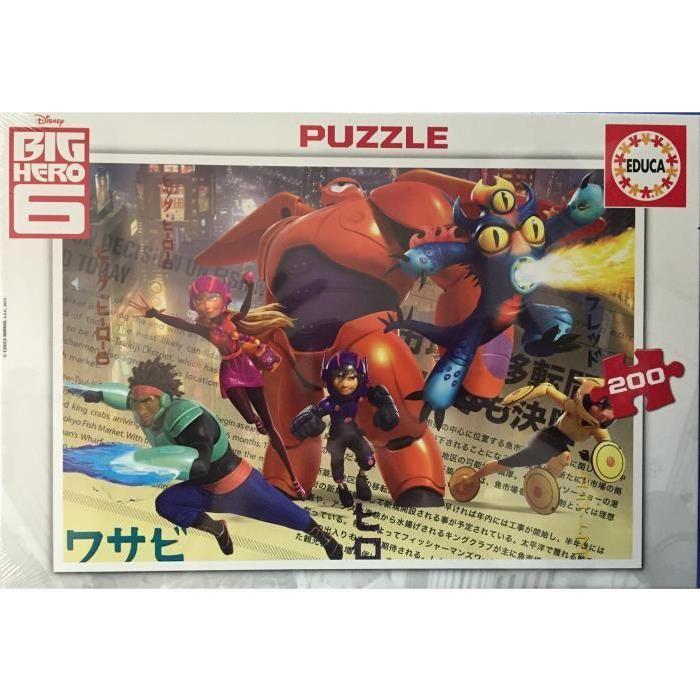 Big Hero 6 Puzzle 200 pièces Achat / Vente puzzle