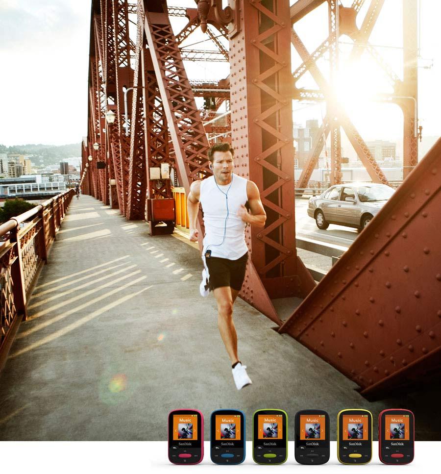 Lecteur MP3 SanDisk Clip Sport 4 Go Noir (SDMX24 004G G46K)