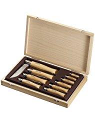 Opinel 1311 Coffret Collection en Bois de 10 Couteaux Lame Inox