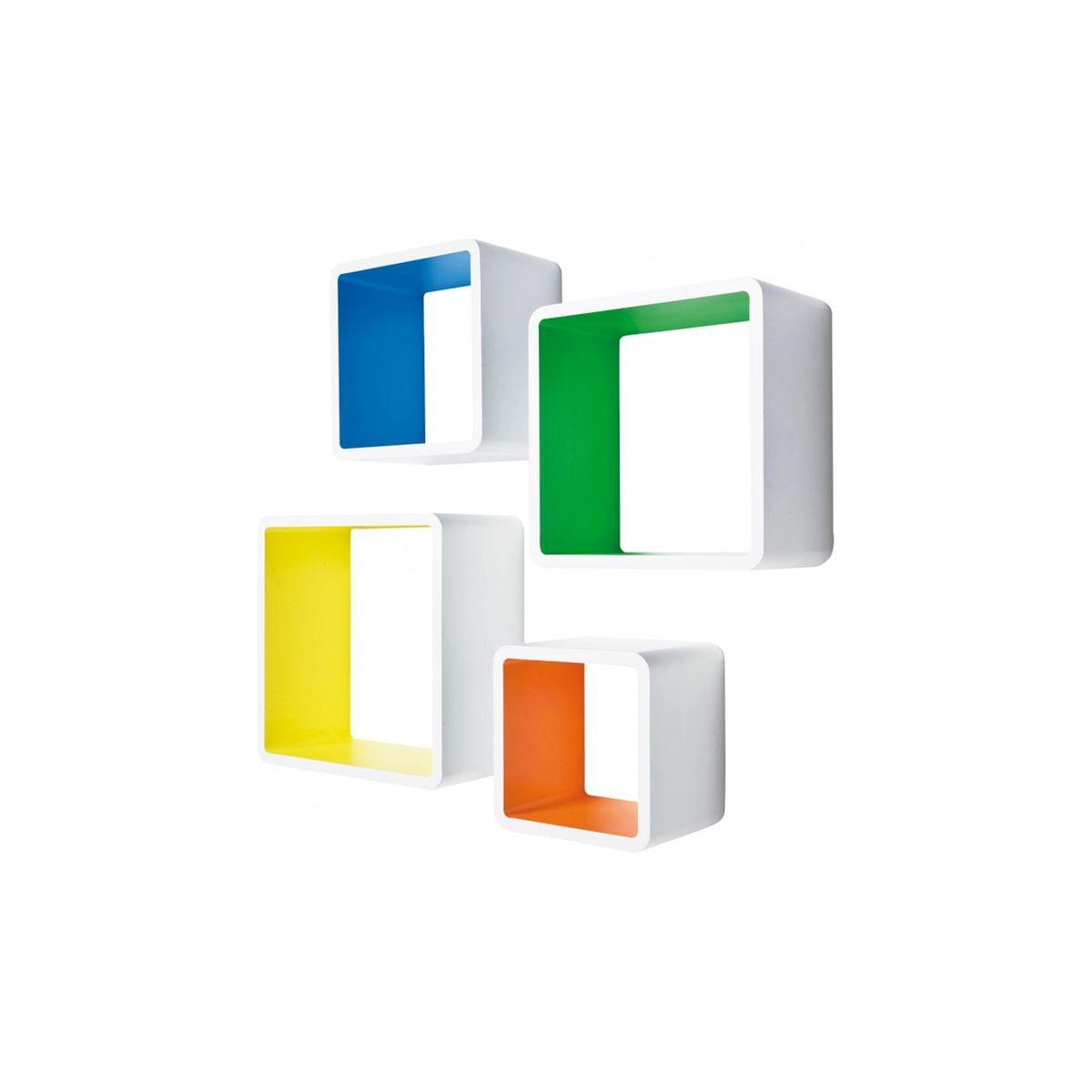 Etagère cube mdf carré couleur 4/set kare design Kare Design | La