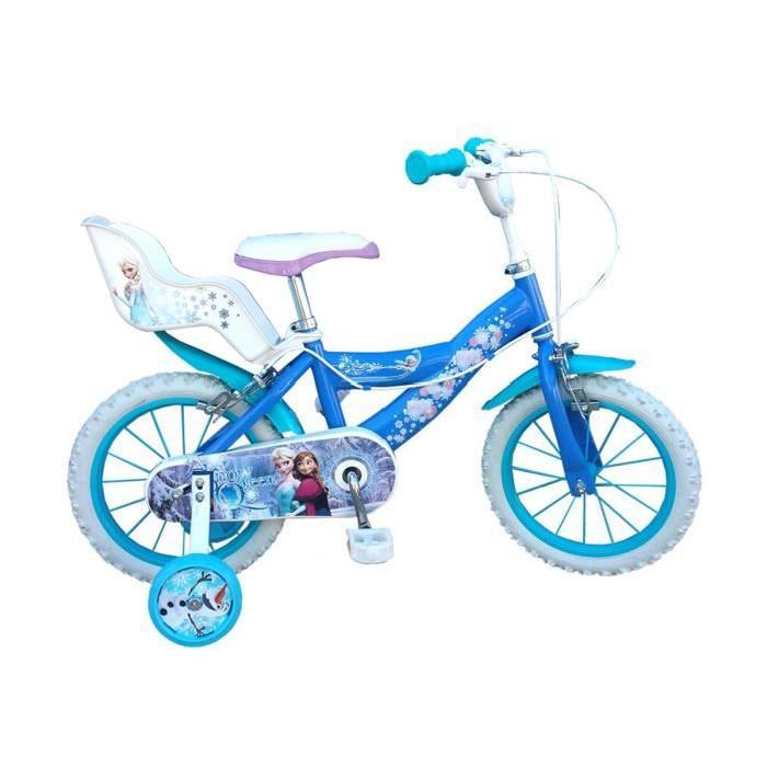 LA REINE DES NEIGES Vélo Enfant 14″ Fille 4/7 ans Prix pas cher