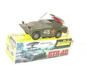 SOLIDO, blindé BTR 40 lance roquette, militaire roues rétractables