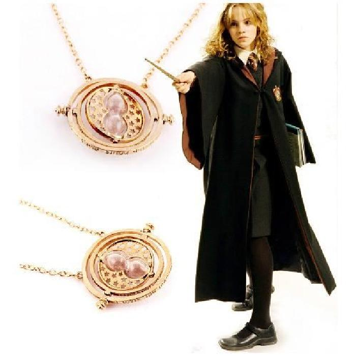 Collier Harry Potter et Hermione convertisseur de temps