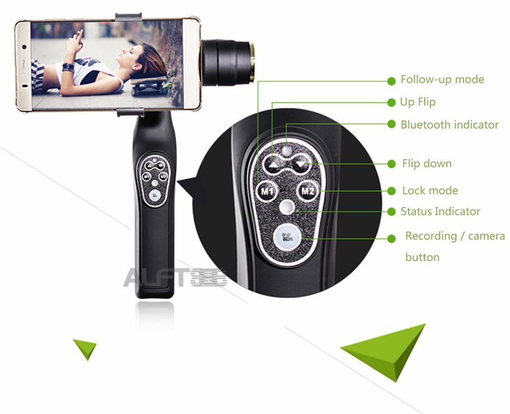 JJ 1 2 Axis Handheld Stabilisateur vidéo Steadicam Pour Smartphone