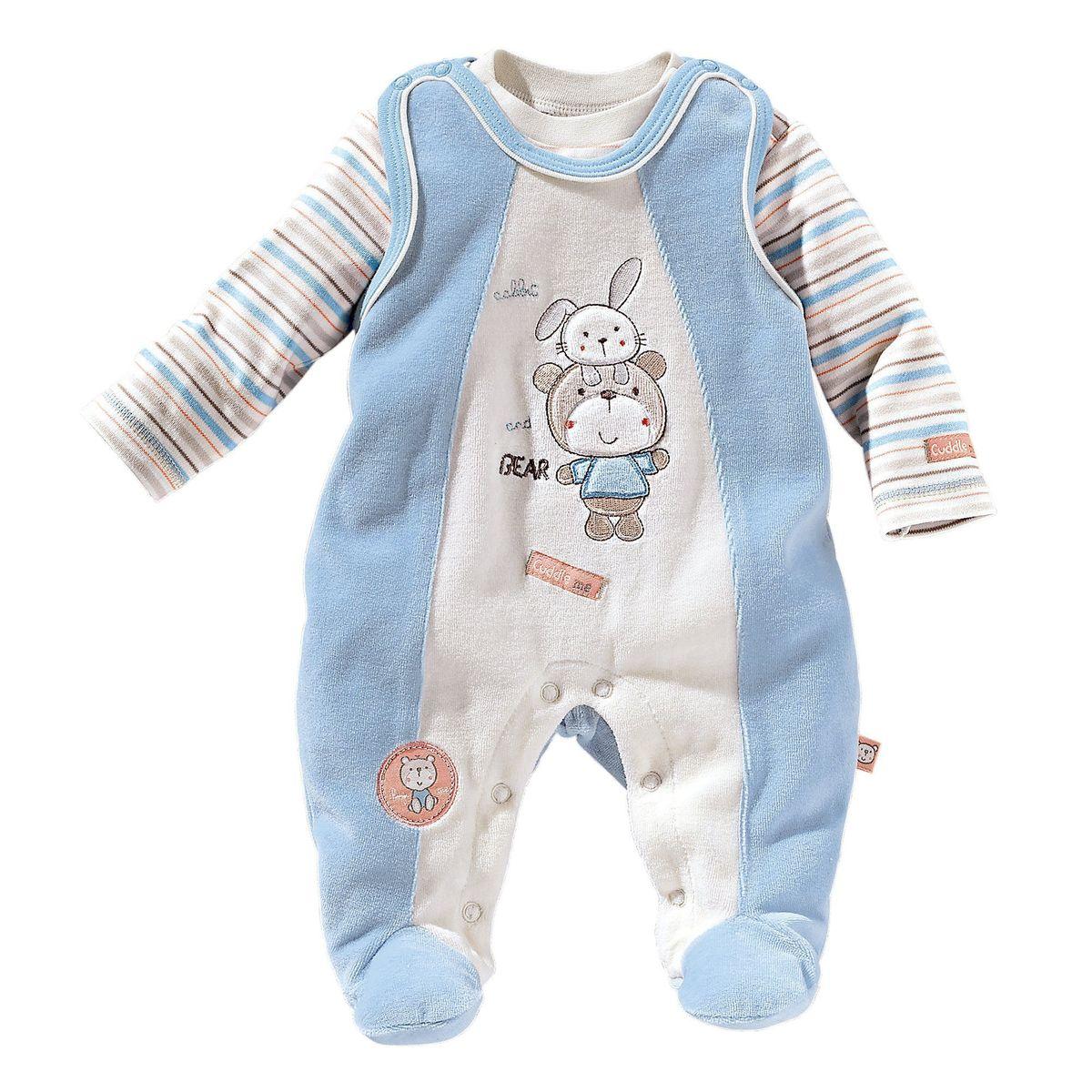 Bornino grenouillère avec t shirt bébé ensemble bébé Bornino | La