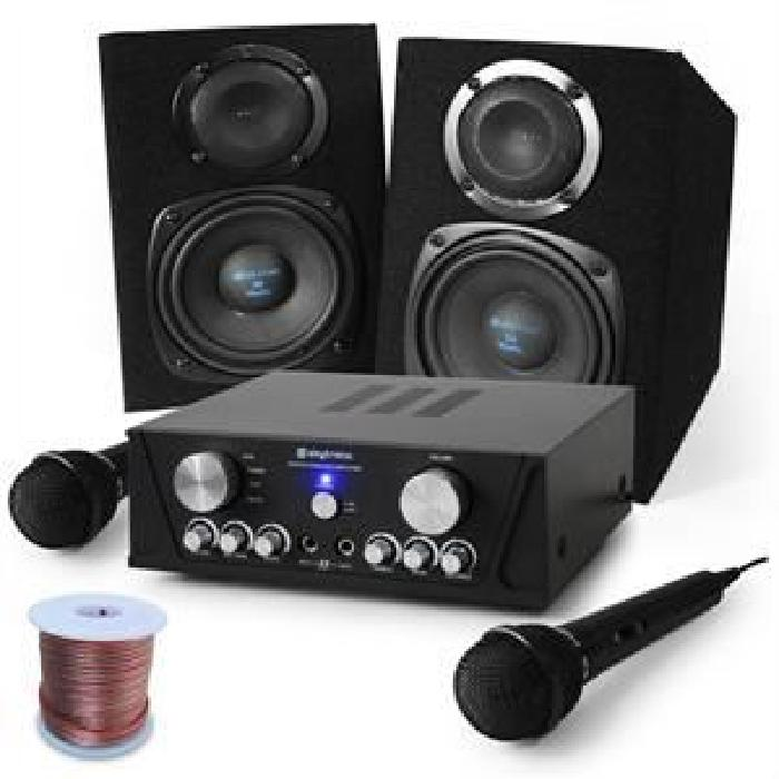 Set Karaoke «Capri Star» enceintes, micro, 400W Set Karaoke: 1 x