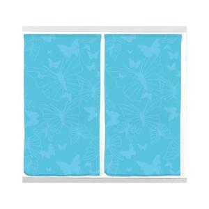 Paire de rideaux brise bise 45×90 cm PAPILLON Bleu Paire de rideaux