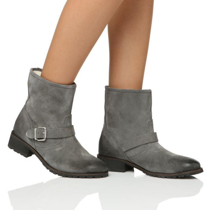bottes grises femme cuir. Black Bedroom Furniture Sets. Home Design Ideas