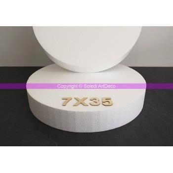 Disque épaisseur 7 cm, diamètre 35 cm, polystyr Achat / Vente