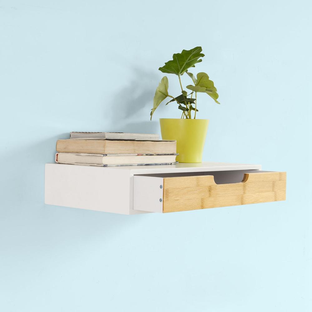 SoBuy® Étagère murale avec tiroir, Armoire à clés