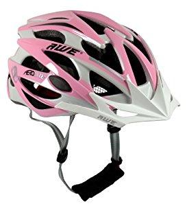AWE® Pink Casque de vélo pour femme Taille 56 58 cm (Rose/blanc