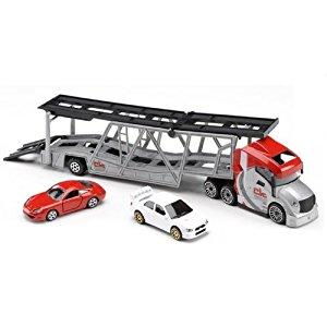 Majorette Grand camion de transport de voiture: Jeux et