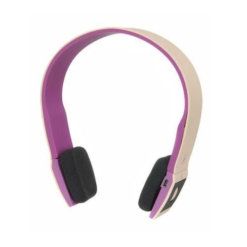 Violet Casque sans fil bluetooth : Casque Halterrego Bluetooth