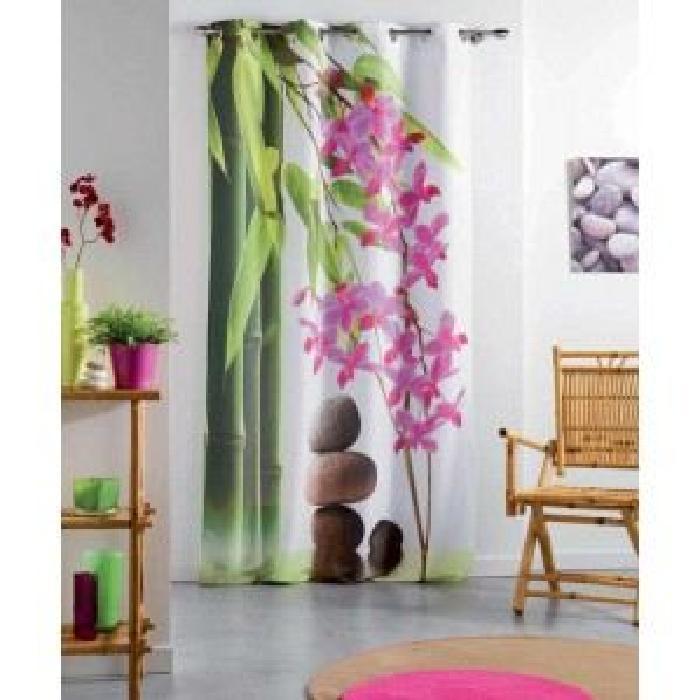 Rideau 140×240 cm Euphoria Zen Achat / Vente rideau 100% polyester