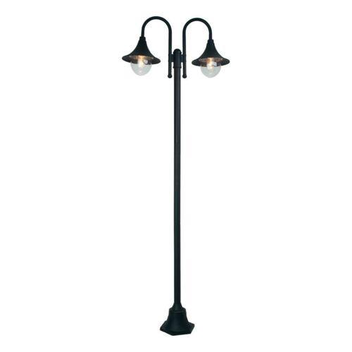 Berna Lampadaire d'extérieur 2 Lumières Noir H210cm Luminaire d