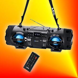AEG sr 4360 Bluetooth GHETTOBLASTER mp3 CD player usb sd aux in radio