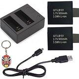 chargeur double ajouter Pack 2 950mAh Batterie pour SJCAM SJ4000 Wifi