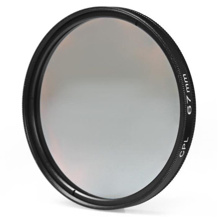 Slim circulaire polarisant filtre, pas de coins sombres des images
