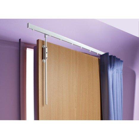 Tringle à rideau de porte IB+, long 100 cm. Pour rideau à ruflettes