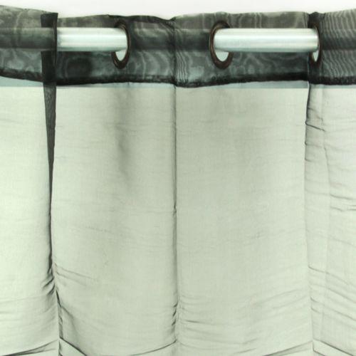 Thedecofactory Rideau Nymphea à oeillets 110x250cm, Noir
