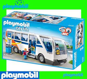 Nouveau playmobil 5106 grande ecole coach avec arret de bus ville vie