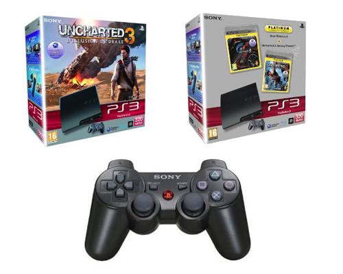 Achat d'un pack Console PS3 320 Go = manette PS3 Dual Shock 3 noire à